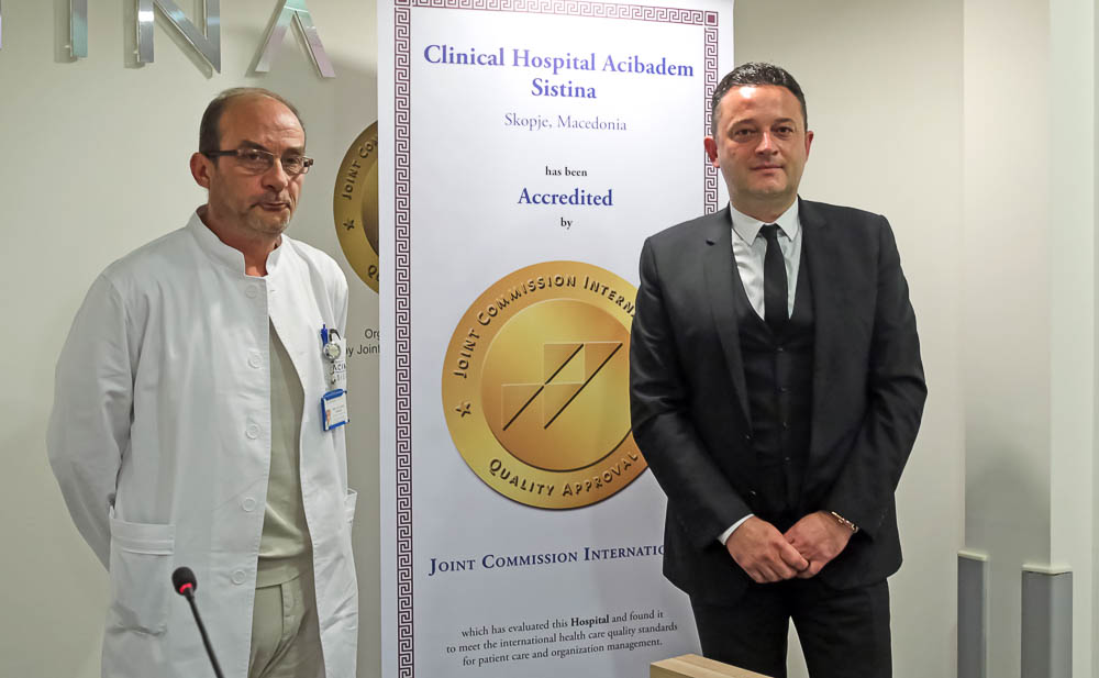 Acibadem Sistina JCI Accredited Hospital